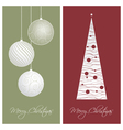 red and green christmas card backgrounds vector image