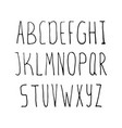 hand drawn simple alphabet vector image
