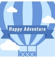 Hot Air Balloon Vintage Background vector image