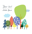 Nature and forest background for the presentation vector image