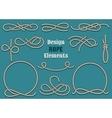 Rope Design Elements vector image