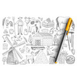 agriculture and farm doodle set vector image vector image