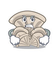 angry oyster mushroom mascot cartoon vector image vector image