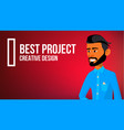arab man banner traditional robe express vector image vector image