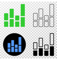 bar chart eps icon with contour version vector image vector image