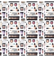 Beauty cosmetic seamless pattern vector image vector image