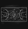 black chalkboard with basketball background card vector image