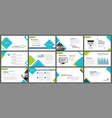 blue and green element for slide infographic on vector image vector image