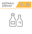 bottles editable stroke line icon vector image