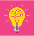 brain bulb idea concept vector image vector image
