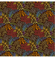 Brown floral scales seamless pattern vector image
