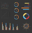 business infographics set vector image vector image
