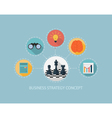 Business strategy concept on flat style design vector image vector image