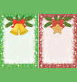 christmas backgrounds with star and bells vector image vector image