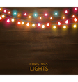 Christmas Lights Poster vector image vector image