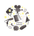 cinema film production cinematography industry vector image