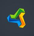 circular shape technology logo vector image