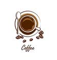 coffee cup4 vector image vector image