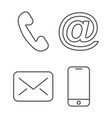 contact icon editable stroke vector image