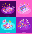 crm system isometric design concept vector image vector image