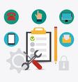 Customer design vector image