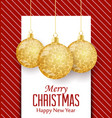 decorative christmas balls vector image vector image