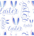 easter seamless pattern with eggs bunny ears and vector image