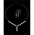 Elegant diamond necklace set vector image vector image