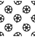 film reel icon seamless pattern on white vector image vector image