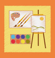 flat shading style icon drawing lesson vector image vector image