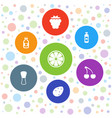 freshness icons vector image vector image