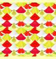 fruit seamless texture pattern with pieces of vector image vector image