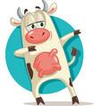 funny cow dabbing cartoon vector image vector image