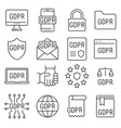 general data protection regulation vector image