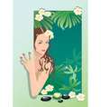 Girl with spa elements vector image vector image