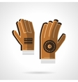 Goalkeepers gloves flat color icon vector image