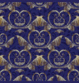 gold 3d baroque seamless pattern patterned vector image vector image