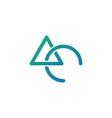 initial ac logo template