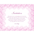 invitation card with frame of sweet cream vector image