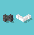 isometric no yes cubes vector image vector image