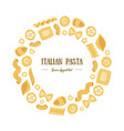 italian pasta banner template round frame with vector image vector image