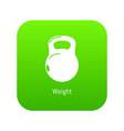 kettlebell icon green vector image