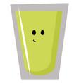 lime juice on white background