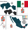 Map of Tabasco vector image