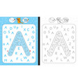 maze letter a vector image vector image
