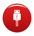 memory flash drive icon red vector image vector image