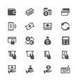money glyph icons vector image vector image