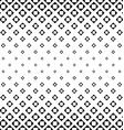 Monochrome square pattern background design vector image vector image