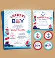 nautical theme bashower invitation birthday pa vector image vector image