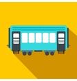 Passenger railway waggon flat icon vector image vector image